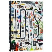 【预订】英文原版 Lots 许许多多 插画师 Marc Martin 儿童艺术手绘本 纽约时报 年度十佳童书 精装大开本