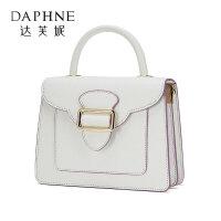 Daphne/达芙妮夏款纯色休闲单肩斜挎包手提包锁扣法棍包女