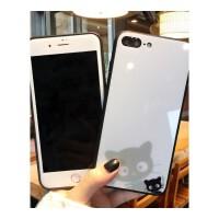 可�圬�咪�O果7plus�化膜手�C��8X卡通彩膜iphone7全屏6s防爆�N膜 i6/6s 白色小�膜��
