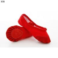 女童帆布跳舞练功鞋瑜伽民族舞鞋儿童舞蹈鞋软底猫爪芭蕾舞鞋