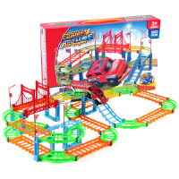 拼装电动轨道车 DIY百变儿童过山车 多层玩具 托马火车