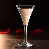 水晶玻璃杯 三角杯 鸡尾酒杯 马天尼杯 香槟高脚杯