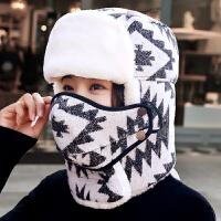 冬季雷锋帽女冬天加绒加厚保暖针织帽韩版青年骑车防寒东北棉帽子