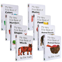 My Very First Book 8本套装 Eric carle 卡尔爷爷 幼儿启蒙认知英文原版绘本 纸板书Motion Animal Homes Words Color Number