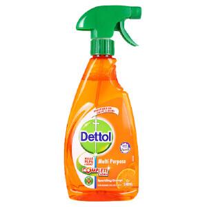 [当当自营] 滴露(Dettol) 清洁剂 多功能清洁喷剂 厨房浴室客厅去油去污家用 柑橘香型 500ml