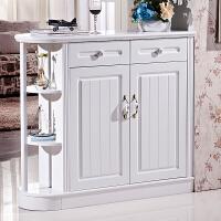 玄关鞋柜双面客厅隔断柜欧式白色现代简约门厅门口鞋柜家用多功能 组装