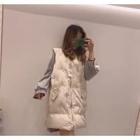 2 韩版2018新款棉马甲中长款加厚宽松刺绣马夹羽绒棉外套女潮
