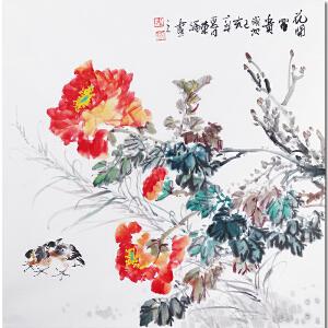 广西美协会员、职业花鸟画家韦荣福先生作品――花开富贵