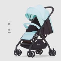 新款婴儿推车夏季户外万向轮轻便可折叠可坐躺迷你四轮宝宝手推车a347zf10 豪华款- 绿色(铝合金)