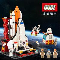 古迪航天飞机发射中心 鲁班启蒙益智拼插拼装塑料积木玩具8815