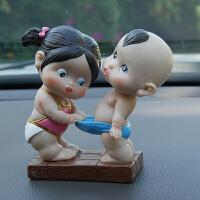 创意汽车摆件可爱情侣公仔摆饰车载小玩偶车内装饰用品内饰品
