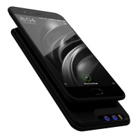 小米6背夹充电宝电池无下巴手机壳便携5c/5s/5X移动电源 小米5C银白色 6000毫安