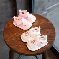 夏季6-12个月婴儿凉鞋软底鞋0-1岁宝宝学步鞋宝宝凉鞋布鞋