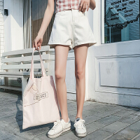 白色牛仔短裤女夏高腰2020新款韩版百搭a字显瘦热裤ins宽松阔腿裤