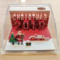 抖音创意便签纸清水寺日本立体艺术便利贴纸雕模型七夕礼物礼品圣诞礼物情人节礼物