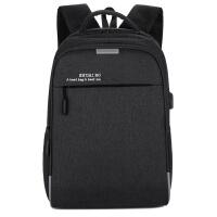 商务男士双肩包男防盗笔记本电脑包大学生书包大容量休闲旅行背包