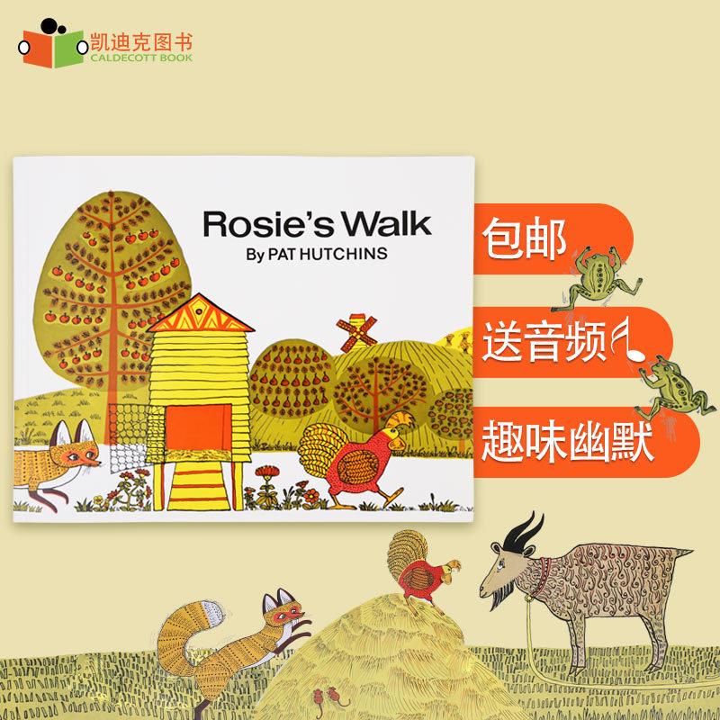 廖彩杏书单 母鸡萝丝去散步 Rosie's Walk  英文绘本3-6岁有趣的故事绘本丰富词汇量开发想象力# 原装进口-正版平装-廖彩杏推荐