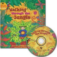 手舞足蹈英语童谣图画书 英文原版 Walking Through the Jungle 丛林里走呀走 Barefoot