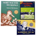 Robert McCloskey经典英文原版绘本3本套装 凯迪克奖Make Way for Ducklings One