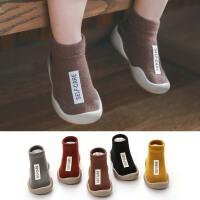 宝宝地板鞋春秋夏软底室内鞋儿童复古防掉学步袜鞋婴儿袜子鞋