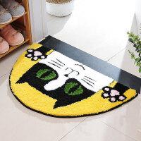 卡通半圆猫头地垫地毯门垫床边垫浴吸水防滑脚垫厨房客厅脚垫 半圆猫