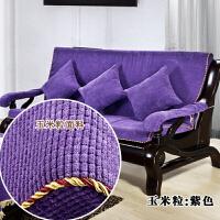 实木沙发垫带靠背三人位坐垫防滑底四季通用沙发垫客厅组合套装定制
