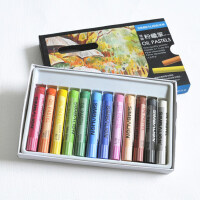 台湾雄狮 SIMBALION 美术用粉蜡笔 美院版 12色OP12A美术用品