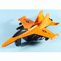 炫酷模型飞机模型战斗机儿童玩具回力小飞机合金模型 柠檬黄 F-18大黄蜂