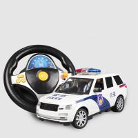 遥控警车路虎无线超大仿真漂移充电模型警察男孩儿童玩具汽车礼物