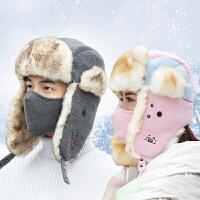 帽子男女士冬季情侣雷锋帽东北户外加厚保暖冬天滑雪骑车帽韩版潮