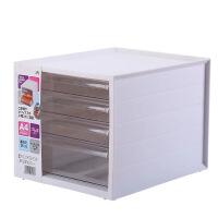 多功能办公桌面收纳盒书立文件夹整理盒透明抽屉式文具塑料收纳架春节礼物情人节礼物