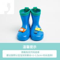 【好�】�和�雨鞋����雨衣女童男童雨靴短筒3-12�q水鞋幼��@�p盈�r尚
