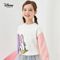 618【3件3折:69元】迪士尼秋女童针织套头毛衣米妮卡通保暖上衣