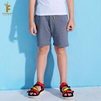 [2件5折到手价:59.5]法纳贝儿男童装休闲短裤运动风儿童裤子五分裤2018夏装新款BH2K04