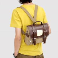 书包男士包商务小挎包单肩包帆布包休闲手提斜挎包