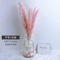 粉色系ins网红干花永生花干花花束带花瓶套装家居摆设装饰小清新 干花包