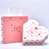 爱心创意定制礼品盒 生日礼盒包装盒 送朋友婚庆伴手礼盒子心形礼盒 21*21*6