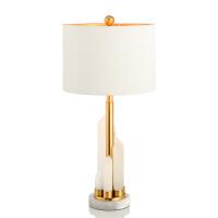 美式简约创意西班牙云石台灯现代设计师客厅卧室样板间装饰台灯 拉丝金
