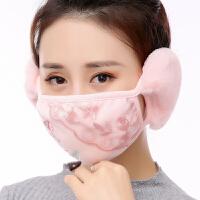 冬天保暖口罩女防寒骑行防风带护耳罩二合一冬季时尚韩版可爱加厚