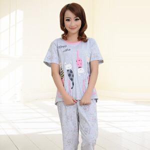 金丰田夏季女士短袖家居服 可爱卡通睡衣套装1740