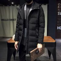 棉衣男中长款冬装8X大码加厚韩版肥佬男士外套羽绒男学生棉袄 5822黑色 5XL