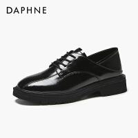 Daphne/�_芙妮女鞋新款一�_蹬百搭英���L小皮鞋低跟�涡�女平底