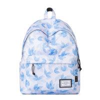 中学生女双肩包枫叶印花背包潮旅行包电脑包