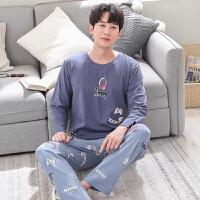 睡衣男冬长袖可爱秋款2018新款青少年男士全棉套头卡通韩版套