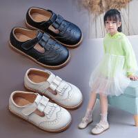 女童皮鞋英���L公主鞋小女孩洋�馔�鞋�和�鞋子春秋�涡�蝴蝶�Y