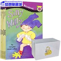 英文原版 入门级5册 All Aboard Reading 288张配套字卡 汪培�E第一阶段 Penguin Group 儿童英语绘silly Willy