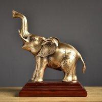 欧式纯铜大象书房客厅办公室摆件创意开业礼品饰品摆设*搭配 纯铜大象