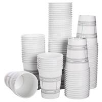 得力19201纸杯 加厚一次性纸杯子耐高温 防变形 250ml 100只/袋