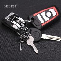 皮带钥匙扣男士腰挂汽车锁匙扣创意双环钥匙链大圈环