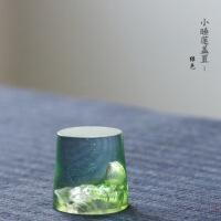 琉璃盖置 紫砂茶壶盖托 手工茶宠复古摆件树桩紫砂壶盖托盖碗盖托